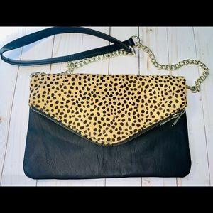 Express Leopard Clutch Bag